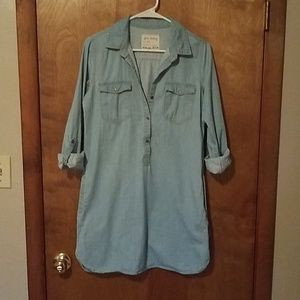 Denim Shirt Dress, Size S